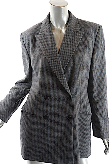 Luciano Barbera Mitchells Ct Doublebreasted Grey Blue Blazer Image 6