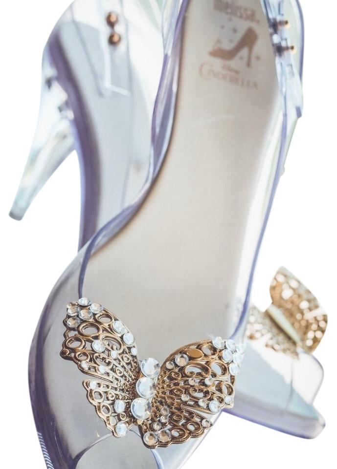 Melissa White Clear Lady Dragon Cinderella Formal Shoes Size US 8.5 ...