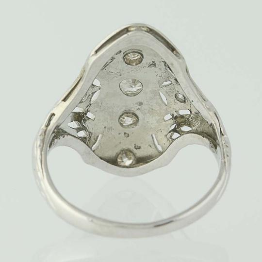 Other Art Deco Diamond Ring - 18k White Gold Size 4 3/4 Vintage .16ctw N7480 Image 3
