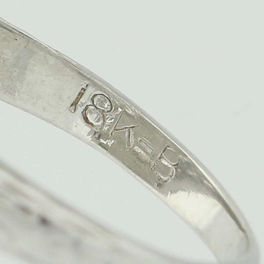 Other Art Deco Diamond Ring - 18k White Gold Size 4 3/4 Vintage .16ctw N7480 Image 4