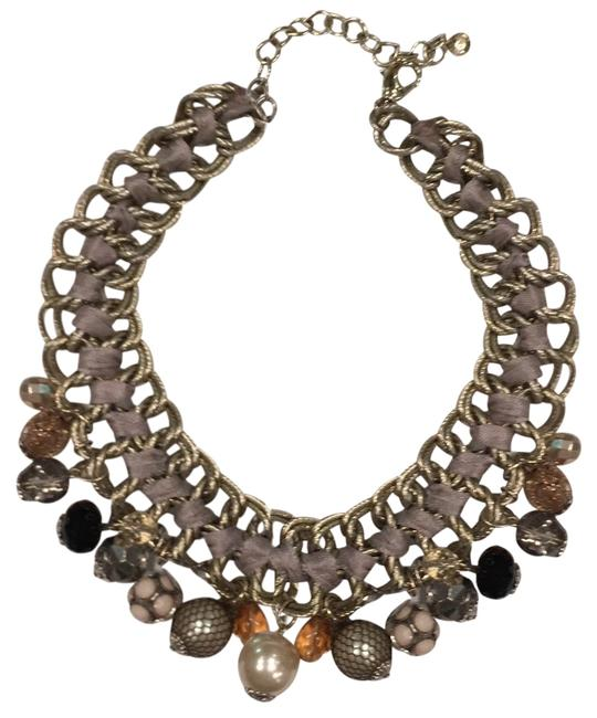 Item - Silver and Multi Media Statement Collar Necklace