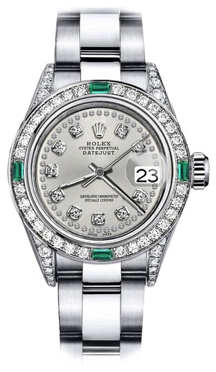 Preload https://img-static.tradesy.com/item/24183125/rolex-stainless-steel-silver-string-26mm-datejust-diamond-lugs-and-emerald-watch-0-1-540-540.jpg