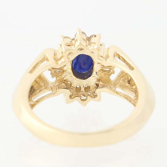 Other Sapphire & Diamond Halo Ring - 14k Yellow Gold Oval Brilliant Cut N836 Image 3