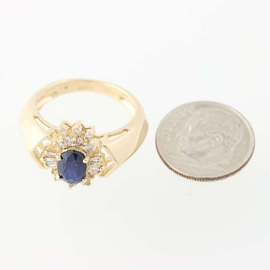 Other Sapphire & Diamond Halo Ring - 14k Yellow Gold Oval Brilliant Cut N836 Image 6