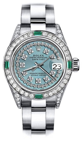 Preload https://img-static.tradesy.com/item/24183215/rolex-stainless-steel-turquoise-string-sp-26mm-datejust-diamond-lugs-and-emerald-watch-0-1-540-540.jpg