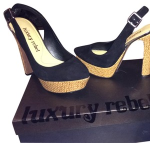 Luxury Rebel Black With Natural Platforms
