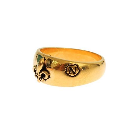 Gold D18879-3 Plated 925 Silver Ring (Eu 60 / Us 10) Men's Jewelry/Accessory Image 1