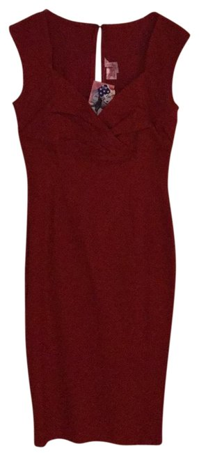 Item - Red Girl Mid-length Cocktail Dress Size 12 (L)