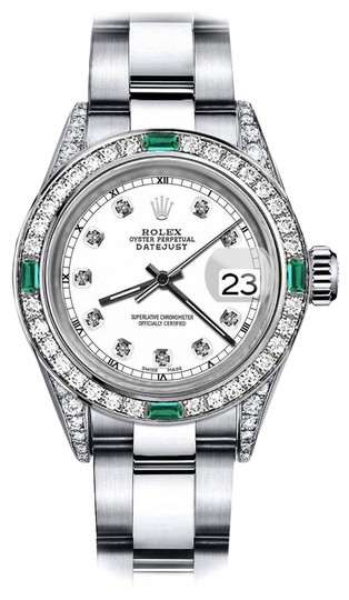 Preload https://img-static.tradesy.com/item/24183265/rolex-stainless-steel-white-track-26mm-datejust-diamond-lugs-and-emerald-watch-0-1-540-540.jpg
