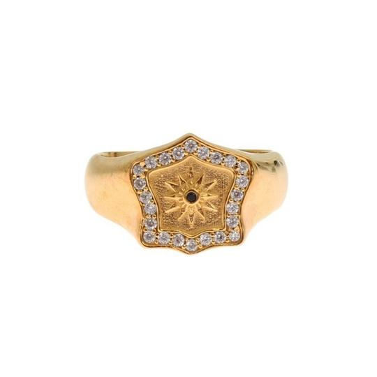 Gold D19137-3 Plated 925 Sterling Silver Ring (Eu 63 / Us 11) Men's Jewelry/Accessory Image 1