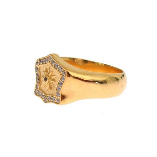 Gold D19137-3 Plated 925 Sterling Silver Ring (Eu 63 / Us 11) Men's Jewelry/Accessory Image 2