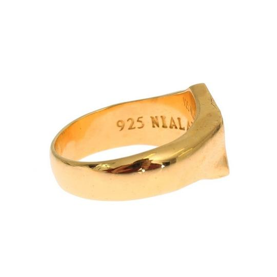 Gold D19137-3 Plated 925 Sterling Silver Ring (Eu 63 / Us 11) Men's Jewelry/Accessory Image 3