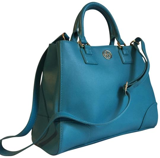 Preload https://img-static.tradesy.com/item/24183406/tory-burch-robinson-saffiano-blue-leather-satchel-0-3-540-540.jpg