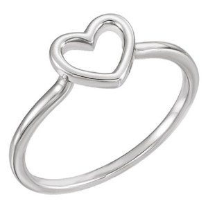 Apples of Gold CUT-OUT HEART RING IN 14K WHITE GOLD