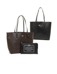 Coach Tote in IM/Brown/Black