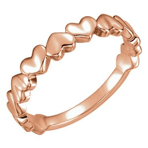 Apples of Gold 14K ROSE GOLD HEART BAND