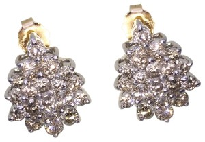 other (013) 14K Yellow Gold Diamond Cluster Earring