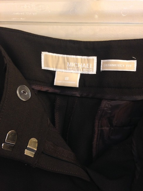 MICHAEL Michael Kors Size Trouser Pants Brown Grammercy Fit Image 7