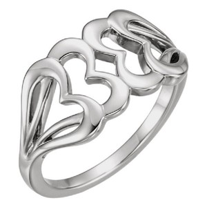 Apples of Gold INTERLOCKING WHITE GOLD HEART RING