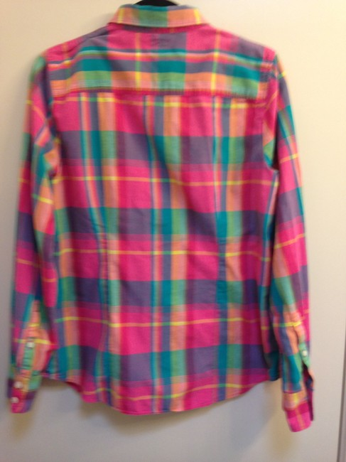 J.Crew Crew Size L Cotton Button Down Shirt The Perfect Shirt in Plaid Image 3