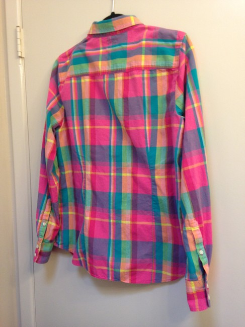 J.Crew Crew Size L Cotton Button Down Shirt The Perfect Shirt in Plaid Image 4