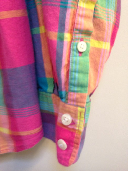 J.Crew Crew Size L Cotton Button Down Shirt The Perfect Shirt in Plaid Image 5