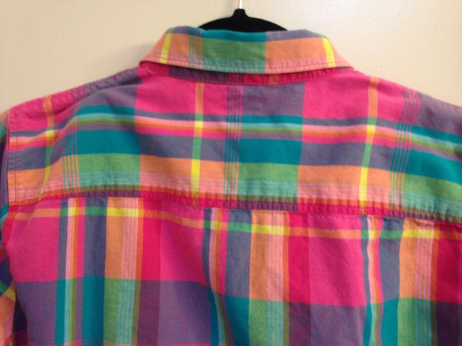 J.Crew Crew Size L Cotton Button Down Shirt The Perfect Shirt in Plaid Image 6