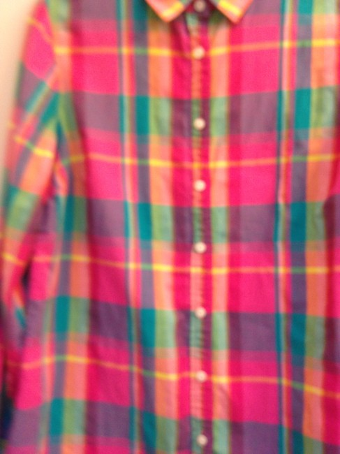 J.Crew Crew Size L Cotton Button Down Shirt The Perfect Shirt in Plaid Image 7