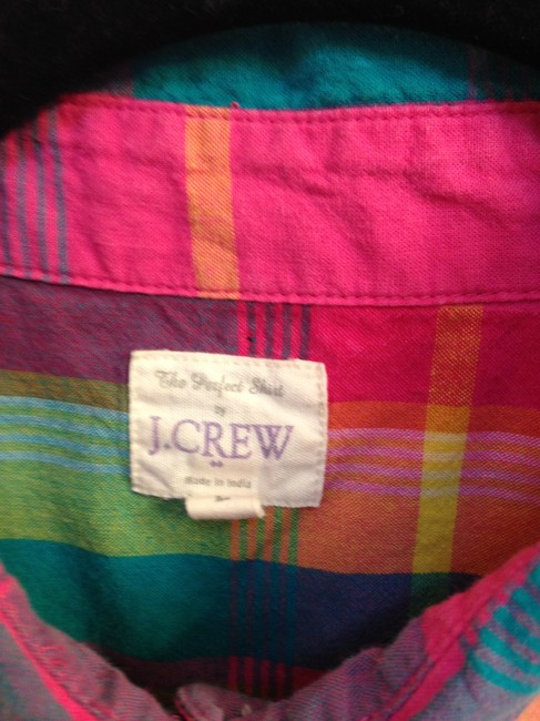 J.Crew Crew Size L Cotton Button Down Shirt The Perfect Shirt in Plaid Image 8