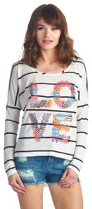 my Land Love Pullover Longsleeve Casual Top Multicolored Stripes