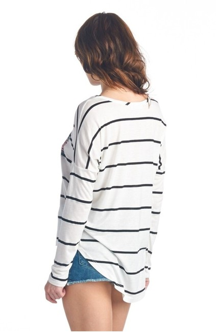 my Land Love Pullover Longsleeve Casual Top Multicolored Stripes Image 2