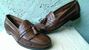 """Bass Brown """"New Quinlan"""" Men's Leather Casual Dress Comfort Loafer 11 Shoes"""