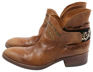 Coop Pull On Casual Western Brown Boots