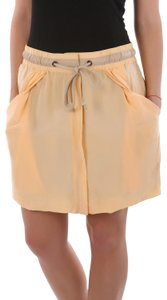 See by Chloé Summer Mini Drawstring Made In Italy Mini Skirt Beige