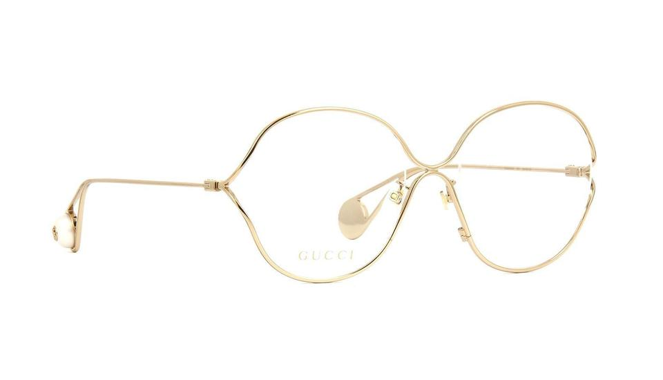 Gucci 001 Gold Women\'s Prescription Eyewear Frames Gg00254oa 54mm ...