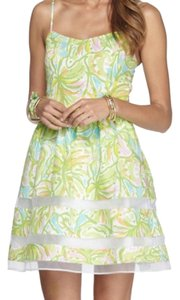 Lilly Pulitzer short dress Green, Neon, Pink, White, Yellow, Orange, Blue A-line Preppy Party on Tradesy