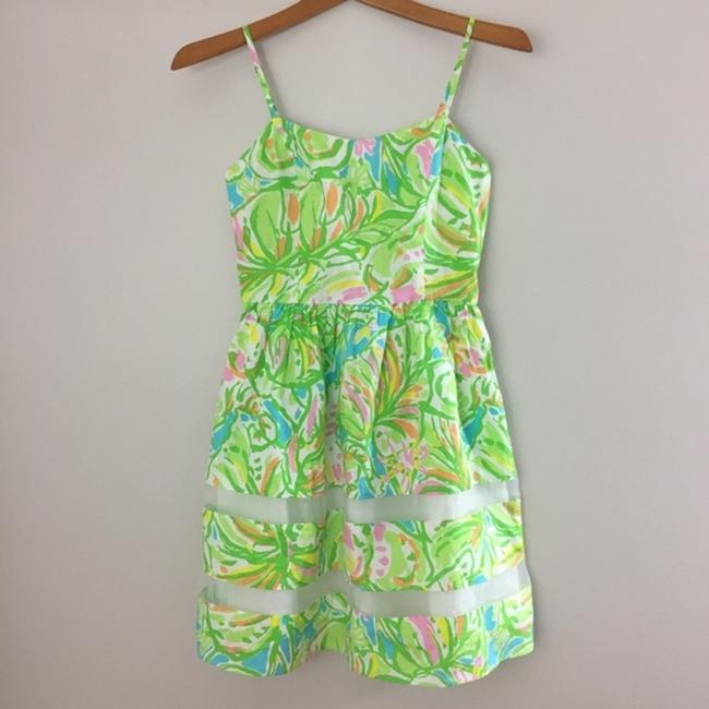 Lilly Pulitzer short dress Green, Neon, Pink, White, Yellow, Orange, Blue A-line Preppy Party on Tradesy Image 1