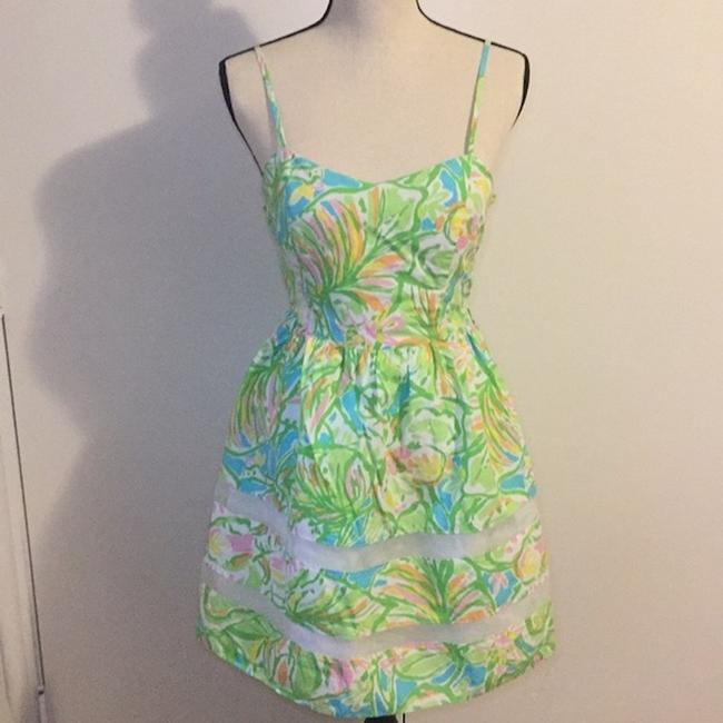 Lilly Pulitzer short dress Green, Neon, Pink, White, Yellow, Orange, Blue A-line Preppy Party on Tradesy Image 3