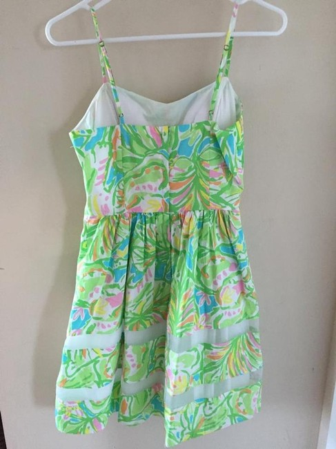 Lilly Pulitzer short dress Green, Neon, Pink, White, Yellow, Orange, Blue A-line Preppy Party on Tradesy Image 4