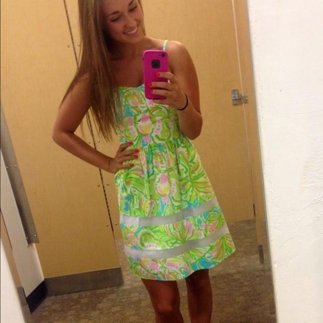 Lilly Pulitzer short dress Green, Neon, Pink, White, Yellow, Orange, Blue A-line Preppy Party on Tradesy Image 5