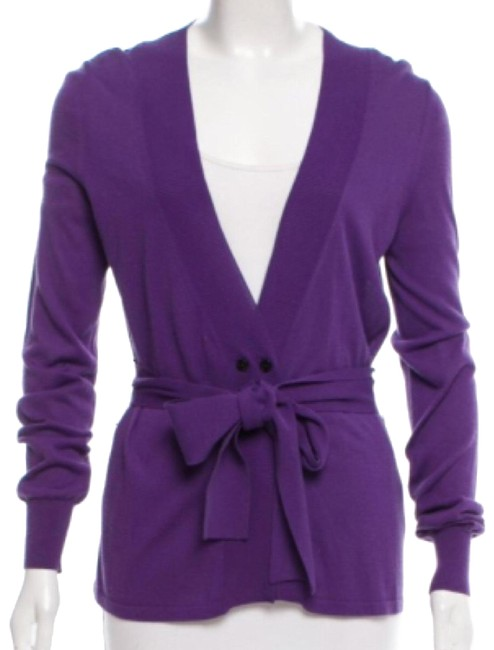 Item - Purple Double Breasted Cardigan Size 6 (S)