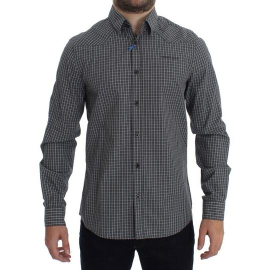 Preload https://img-static.tradesy.com/item/24183860/versace-jeans-collection-gray-d17863-1-checkered-slim-fit-cotton-48-m-shirt-0-0-540-540.jpg
