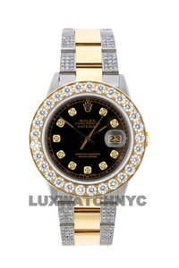 ROLEX Free Shipping 8ct 36mm Datejust S/S with Box & Appraisal Watch
