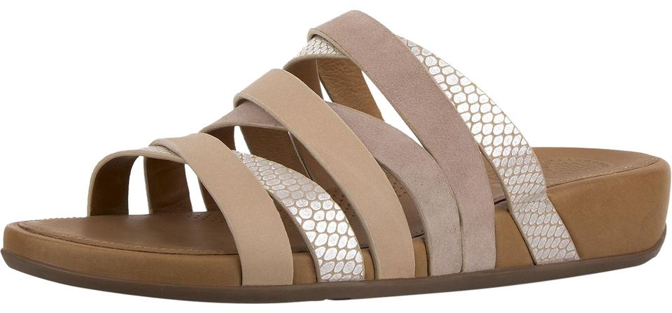 359c58004 FitFlop Peach Womens Lumy Leather Snake Embossed Slide Sandals. Size  US 9  Regular (M ...
