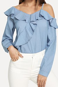 SheIn One Shouler Top Blue