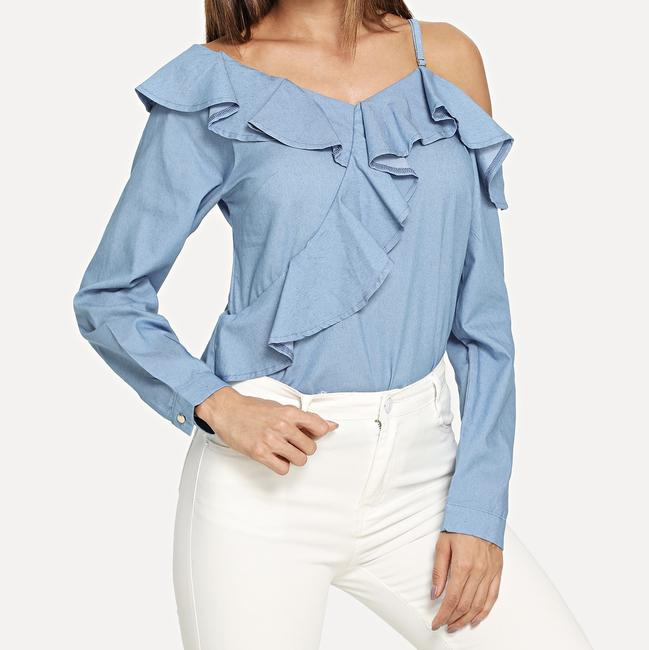 SheIn One Shouler Top Blue Image 1