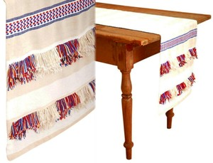 Anthropologie Multicolor Fringed Cortes Table Runner Other