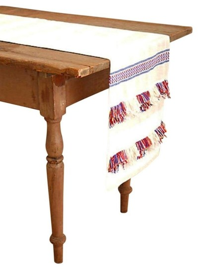 Anthropologie Multicolor Fringed Cortes Table Runner Other Image 1