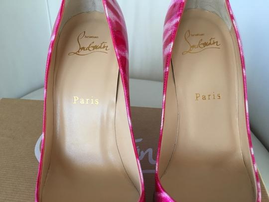 huge selection of 04d48 cbe41 Christian Louboutin Pink Classic Pigalle Follies 100mm Shocking Glitter  Patent Leather Point Pumps Size EU 36.5 (Approx. US 6.5) Regular (M, B)