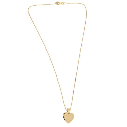 Other 18k Yellow Gold Heart Pendant Necklace Image 1
